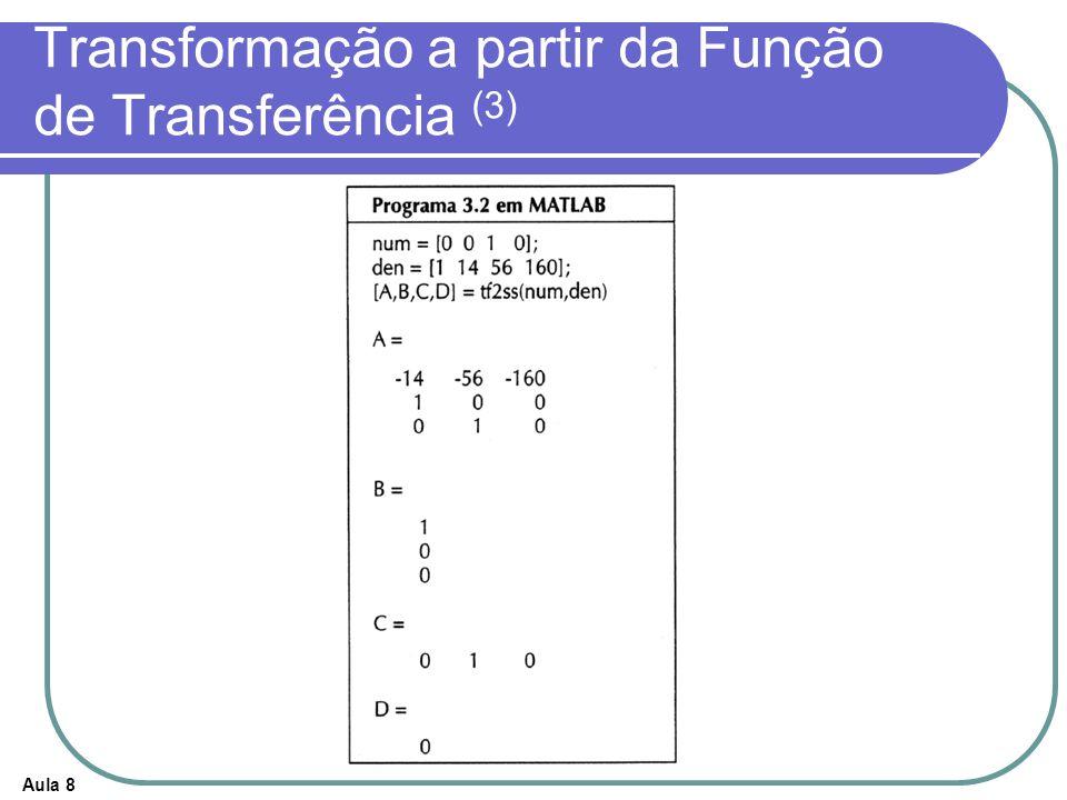 Transformação a partir da Função de Transferência (3)