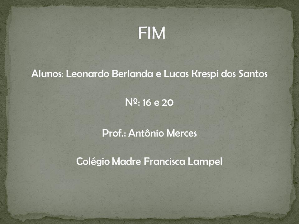 FIM Alunos: Leonardo Berlanda e Lucas Krespi dos Santos Nº: 16 e 20 Prof.: Antônio Merces Colégio Madre Francisca Lampel