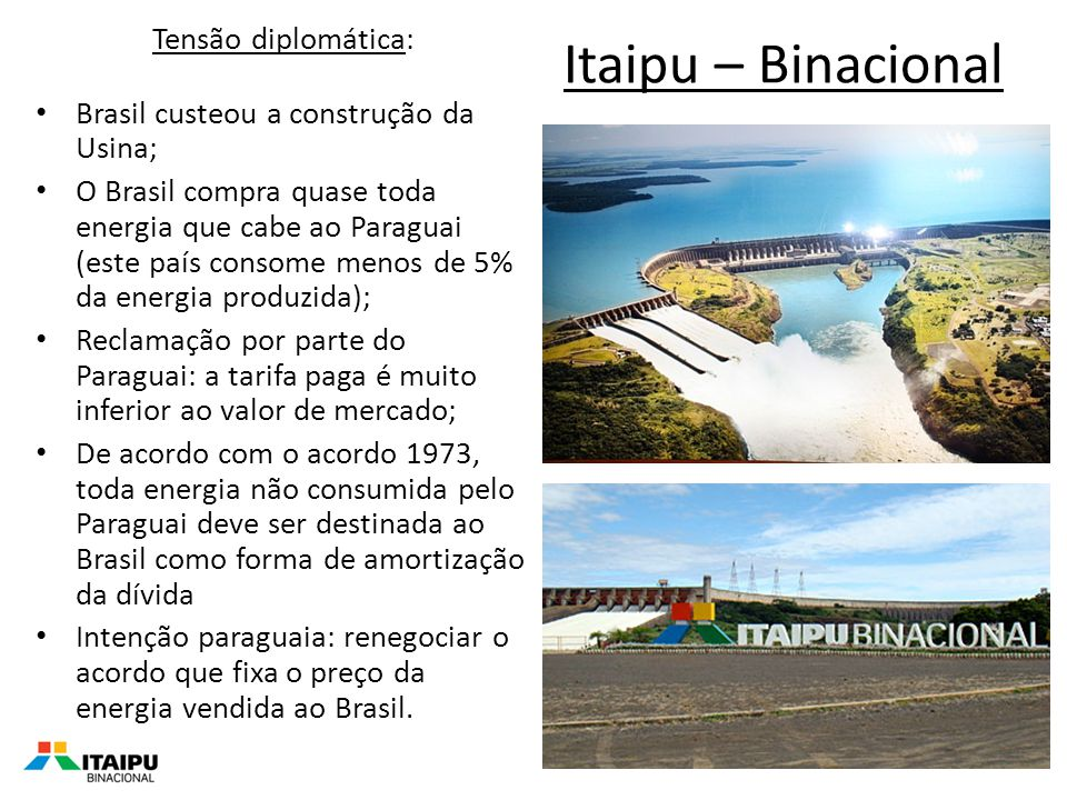 Itaipu – Binacional Tensão diplomática:
