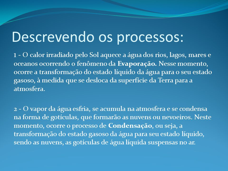 Descrevendo os processos: