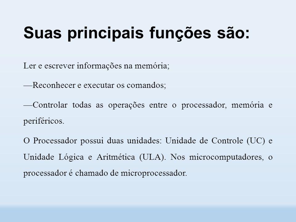 Suas principais funções são: