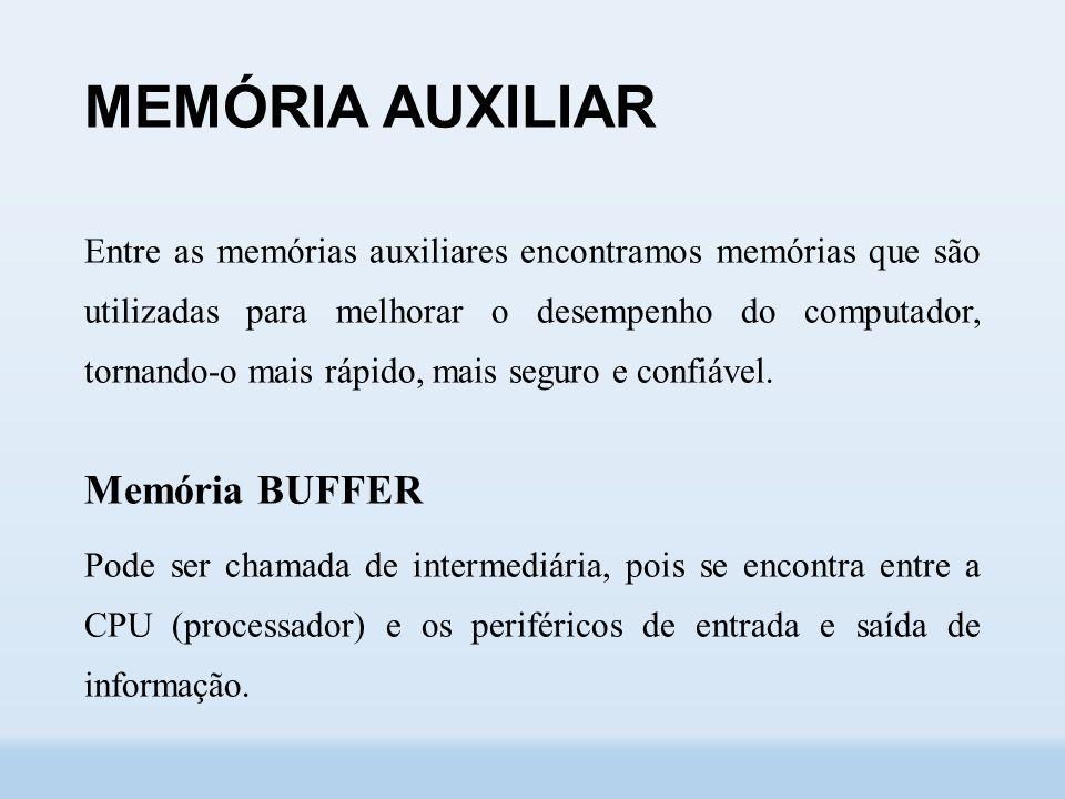 MEMÓRIA AUXILIAR Memória BUFFER