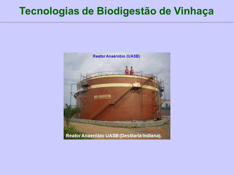 Tecnologias de Biodigestão de Vinhaça Reator Anaérobio (UASB)