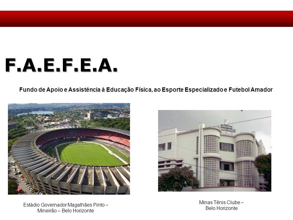 F.A.E.F.E.A. Fundo de Apoio e Assistência à Educação Física, ao Esporte Especializado e Futebol Amador.