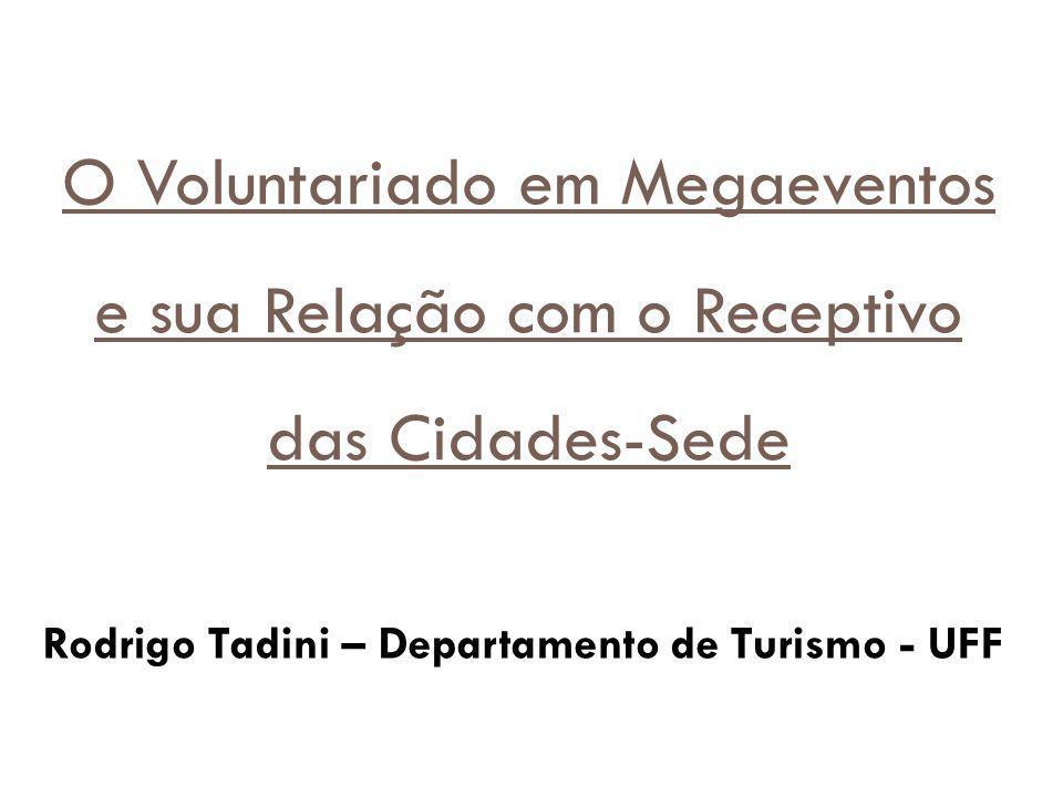 Rodrigo Tadini – Departamento de Turismo - UFF