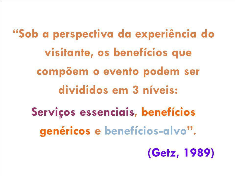 Serviços essenciais, benefícios genéricos e benefícios-alvo .