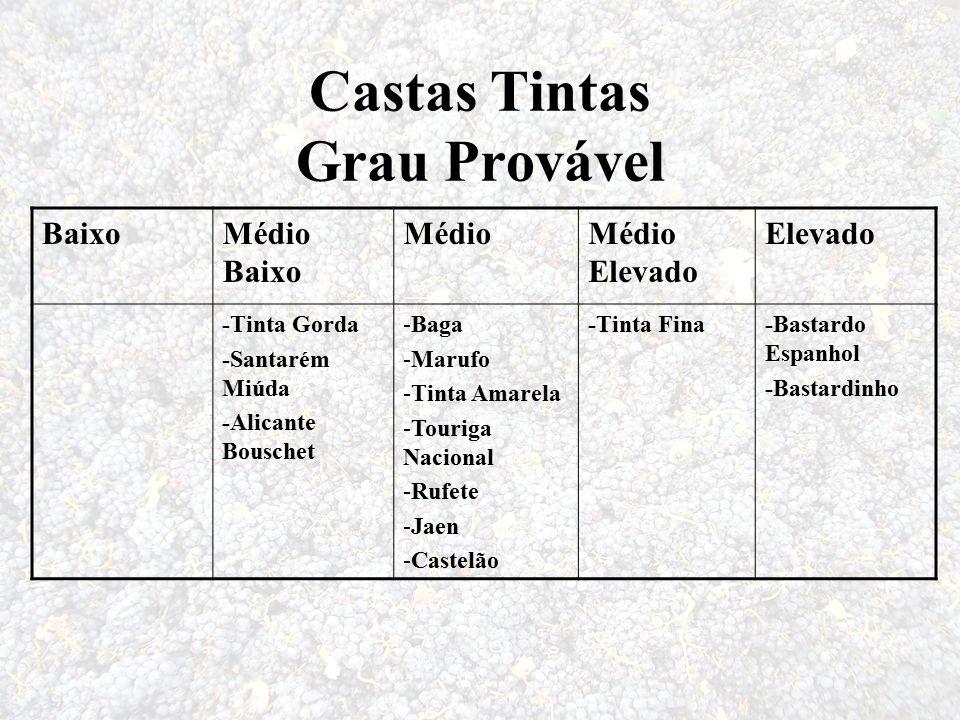 Castas Tintas Grau Provável