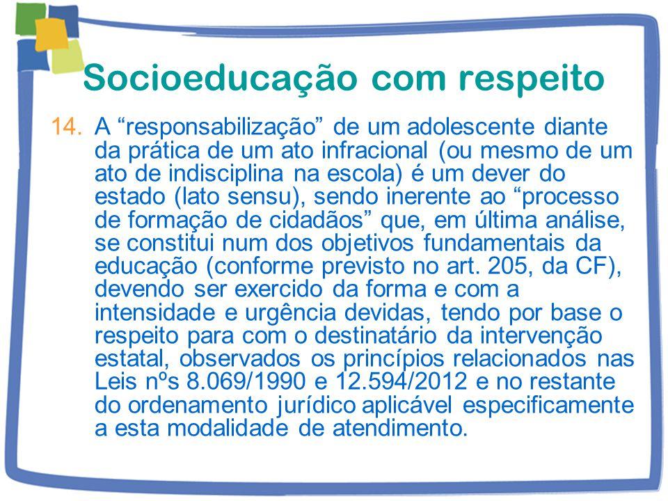 Socioeducação com respeito