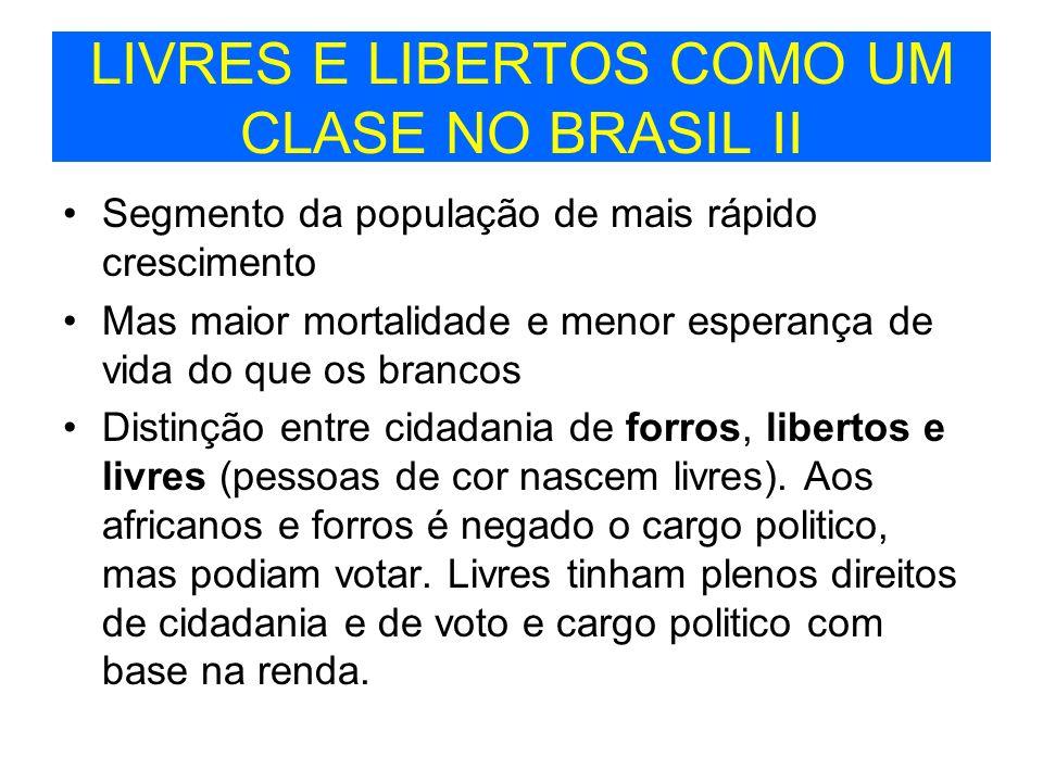 LIVRES E LIBERTOS COMO UM CLASE NO BRASIL II