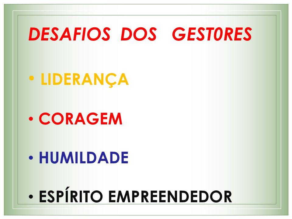 LIDERANÇA DESAFIOS DOS GEST0RES CORAGEM HUMILDADE