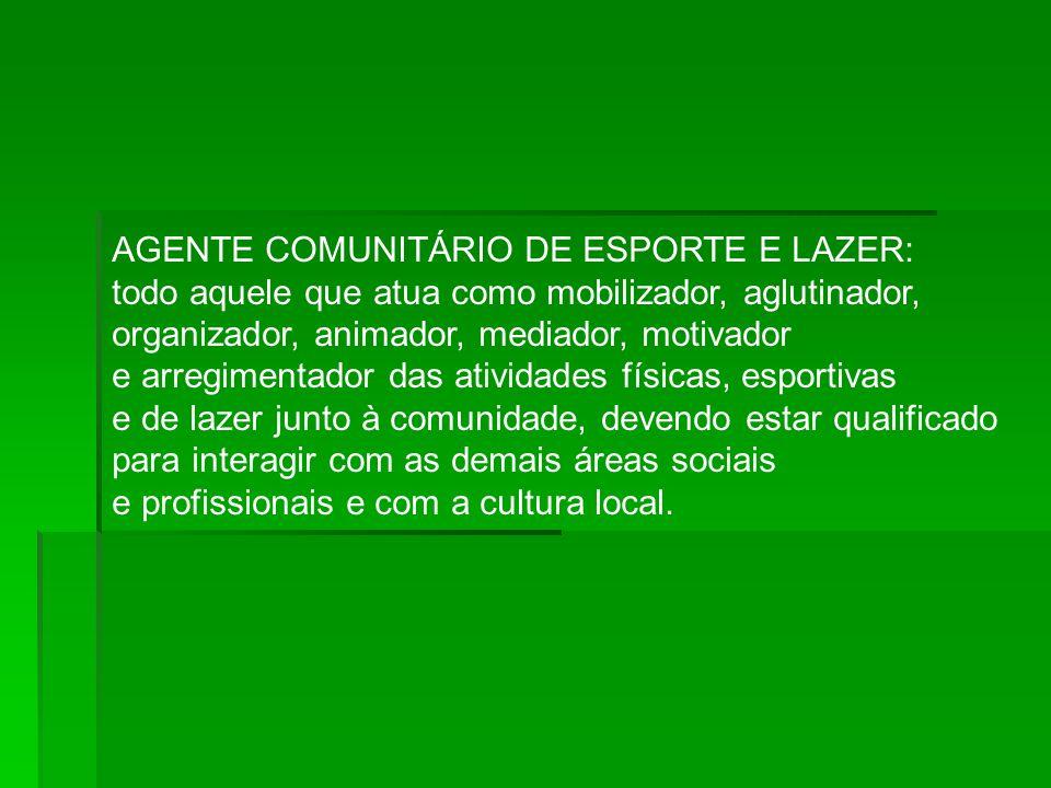 AGENTE COMUNITÁRIO DE ESPORTE E LAZER: