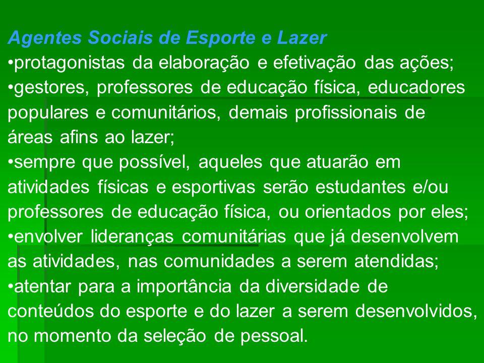 Agentes Sociais de Esporte e Lazer