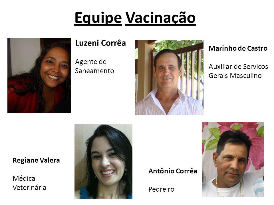 Equipe Vacinação Luzeni Corrêa Marinho de Castro Agente de Saneamento