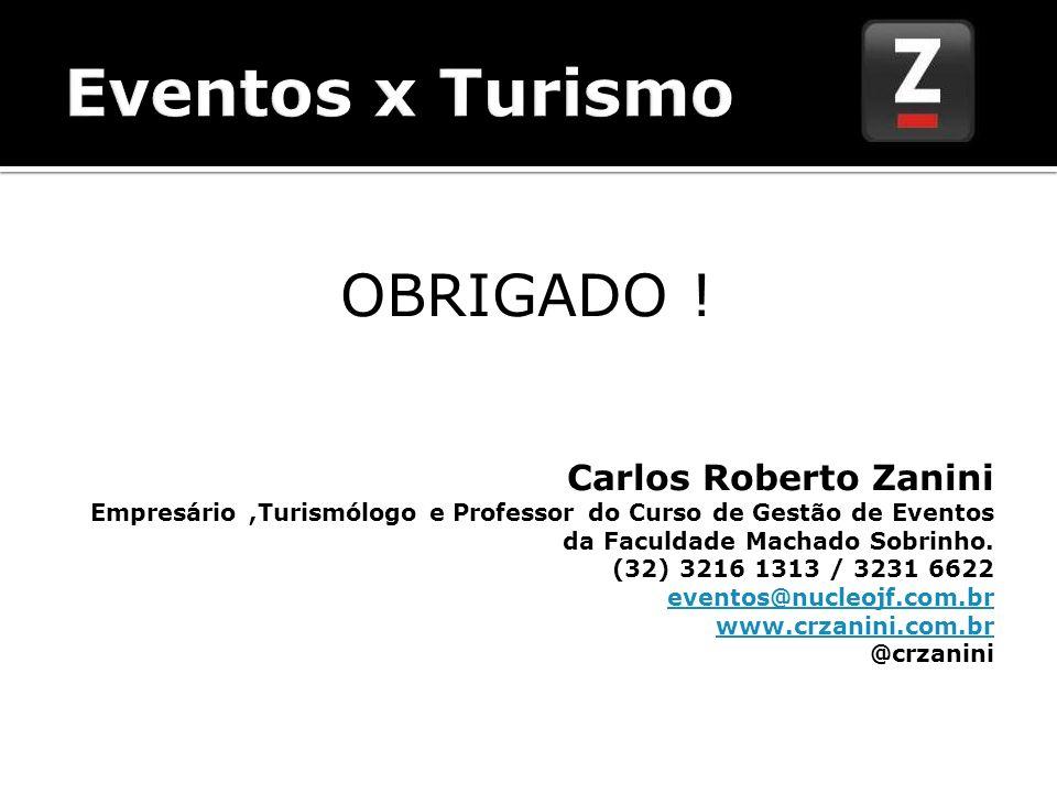 Eventos x Turismo OBRIGADO ! Carlos Roberto Zanini