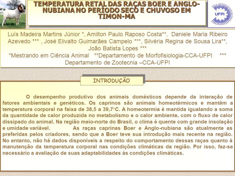 TEMPERATURA RETAL DAS RAÇAS BOER E ANGLO-NUBIANA NO PERÍODO SECO E CHUVOSO EM TIMON-MA