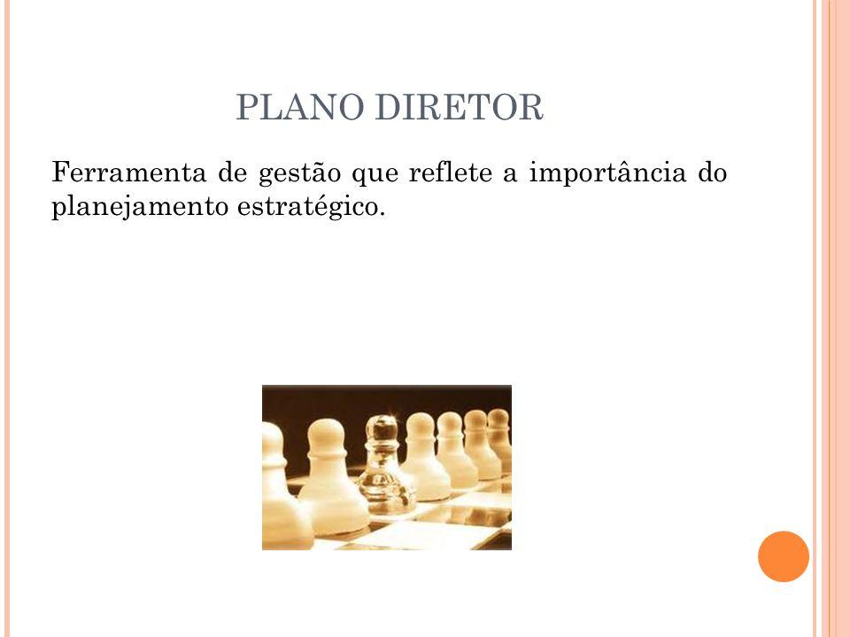 PLANO DIRETOR Ferramenta de gestão que reflete a importância do planejamento estratégico. 30