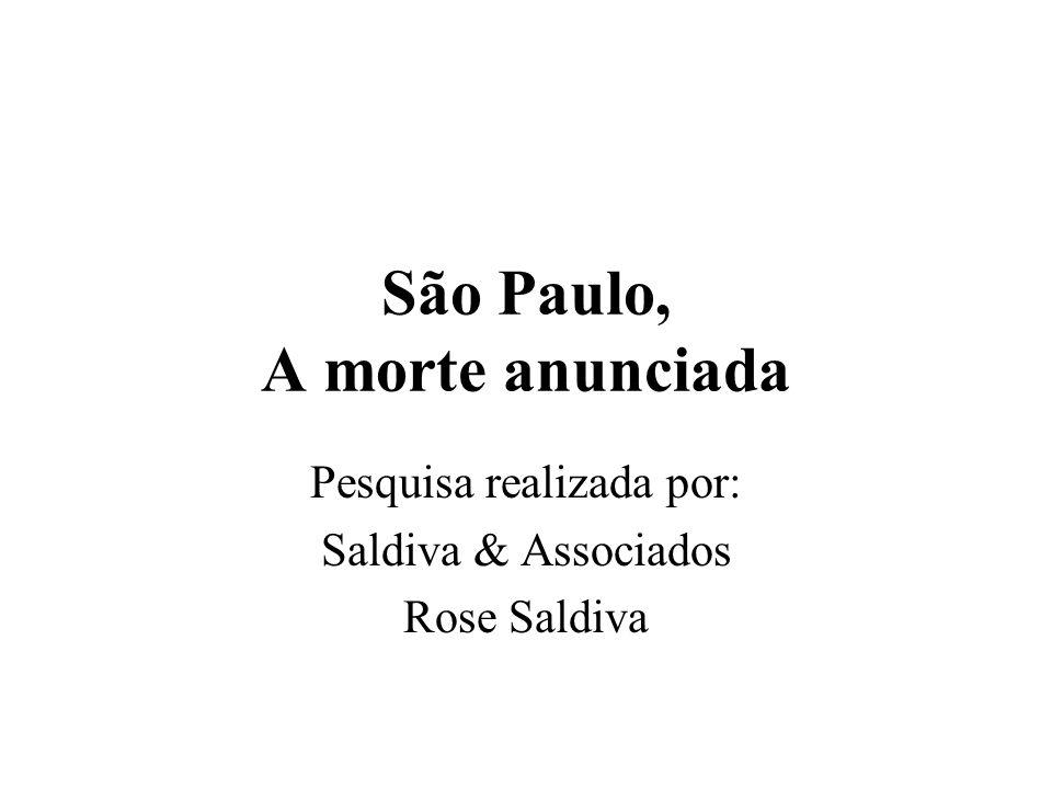 São Paulo, A morte anunciada