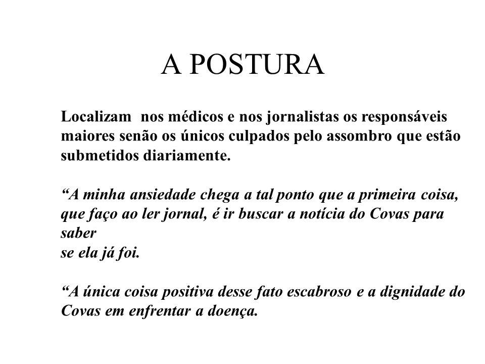 A POSTURA Localizam nos médicos e nos jornalistas os responsáveis