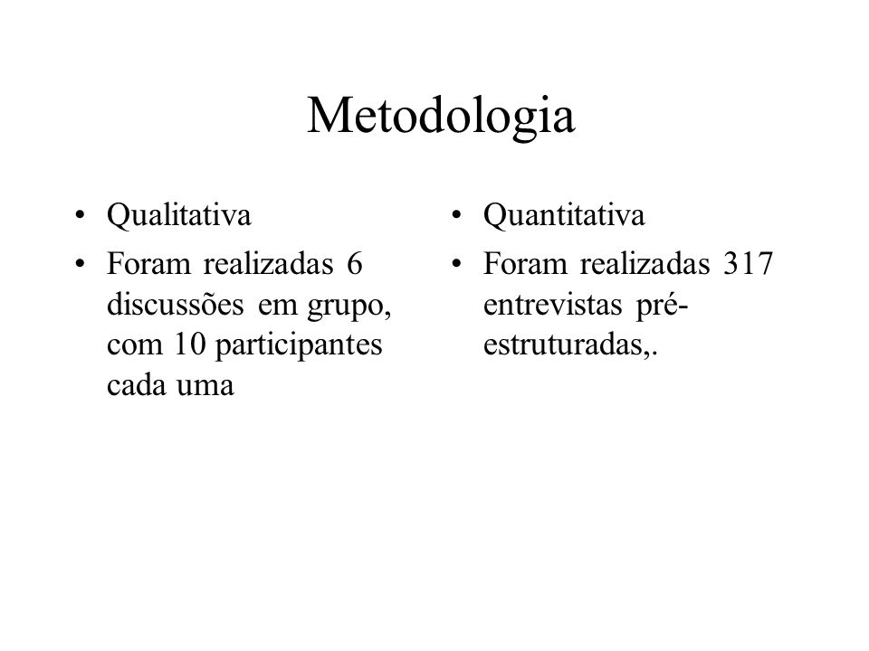 Metodologia Qualitativa