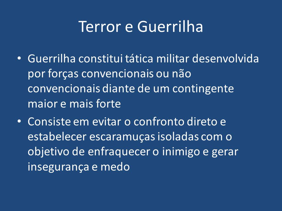 Terror e Guerrilha