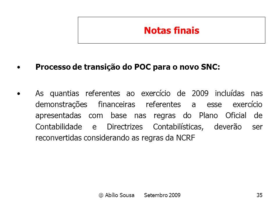 @ Abílio Sousa Setembro 2009