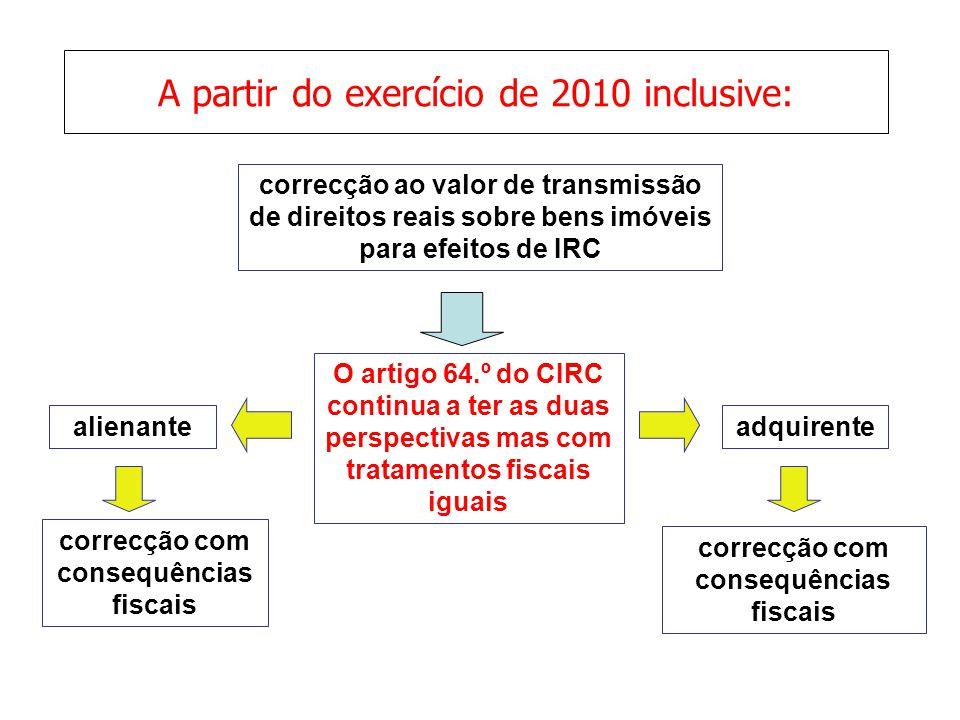 A partir do exercício de 2010 inclusive:
