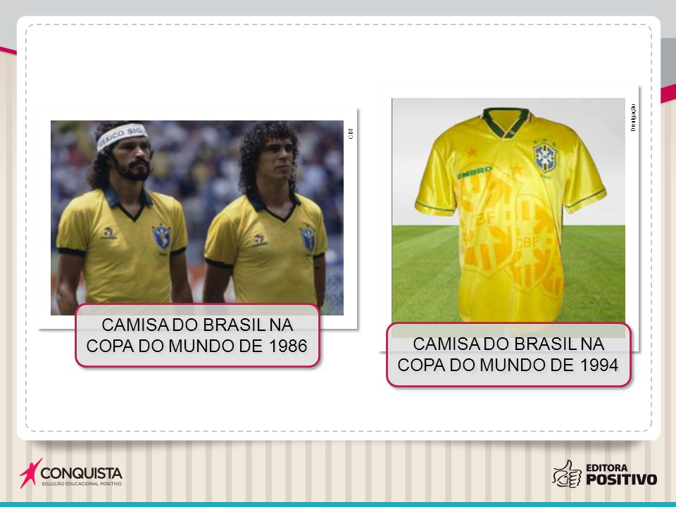 Camisa do Brasil na Copa do Mundo de 1986