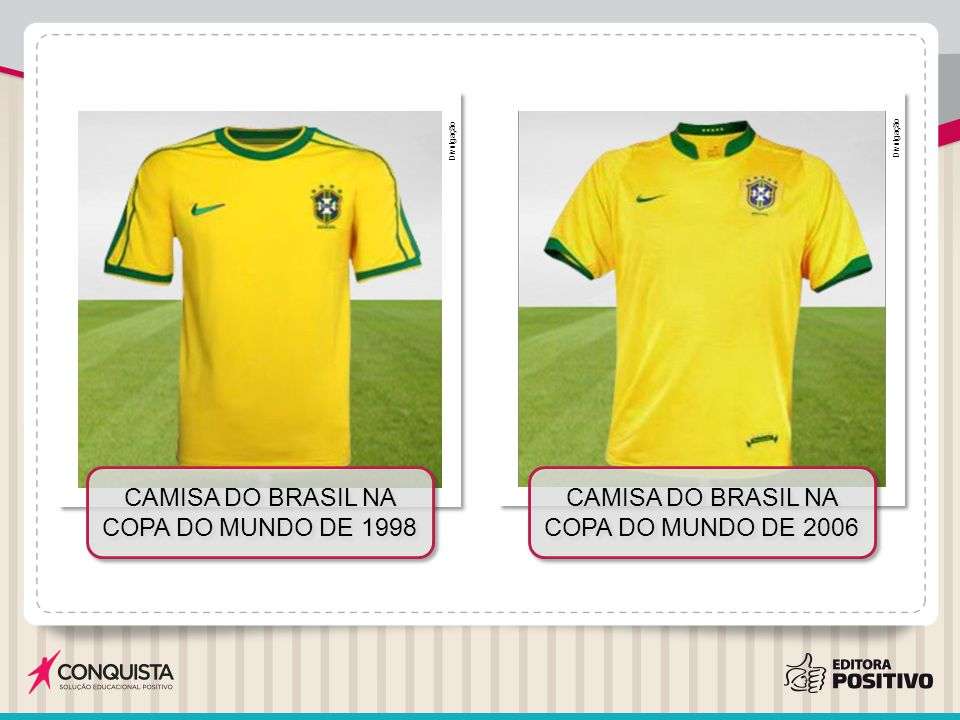 Camisa do Brasil na Copa do Mundo de 1998