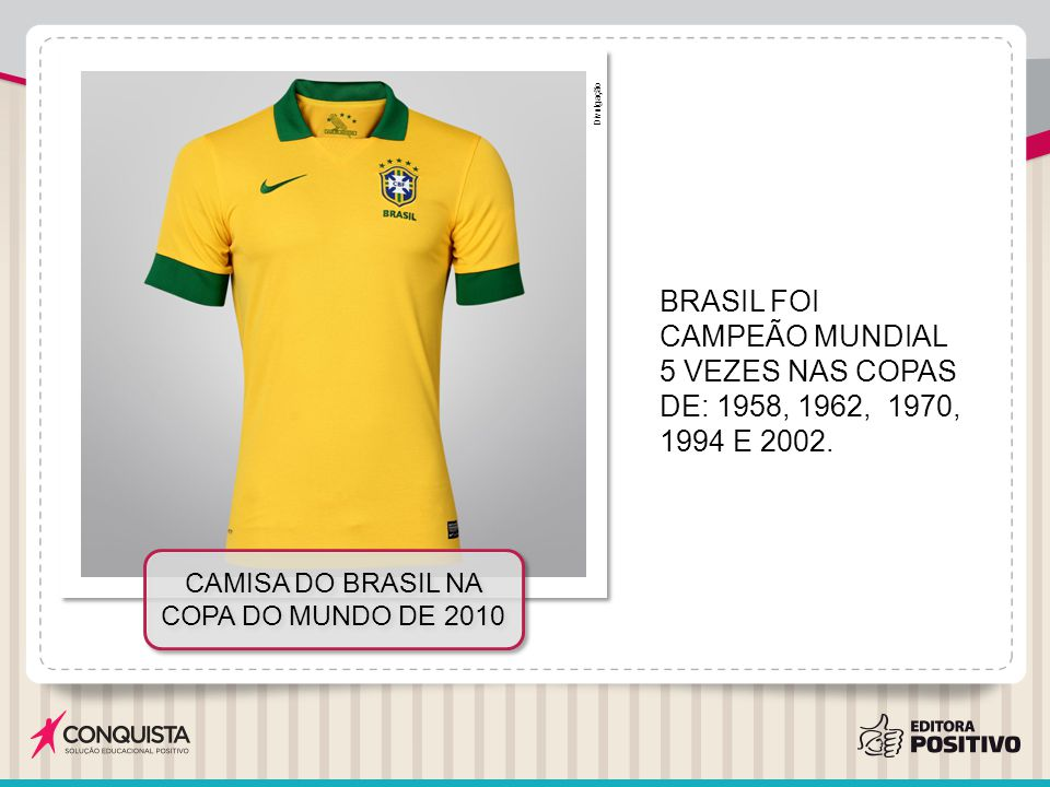 Camisa do Brasil na Copa do Mundo de 2010