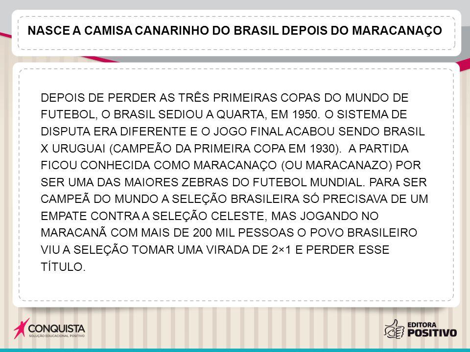 Nasce a camisa canarinho do Brasil depois do Maracanaço