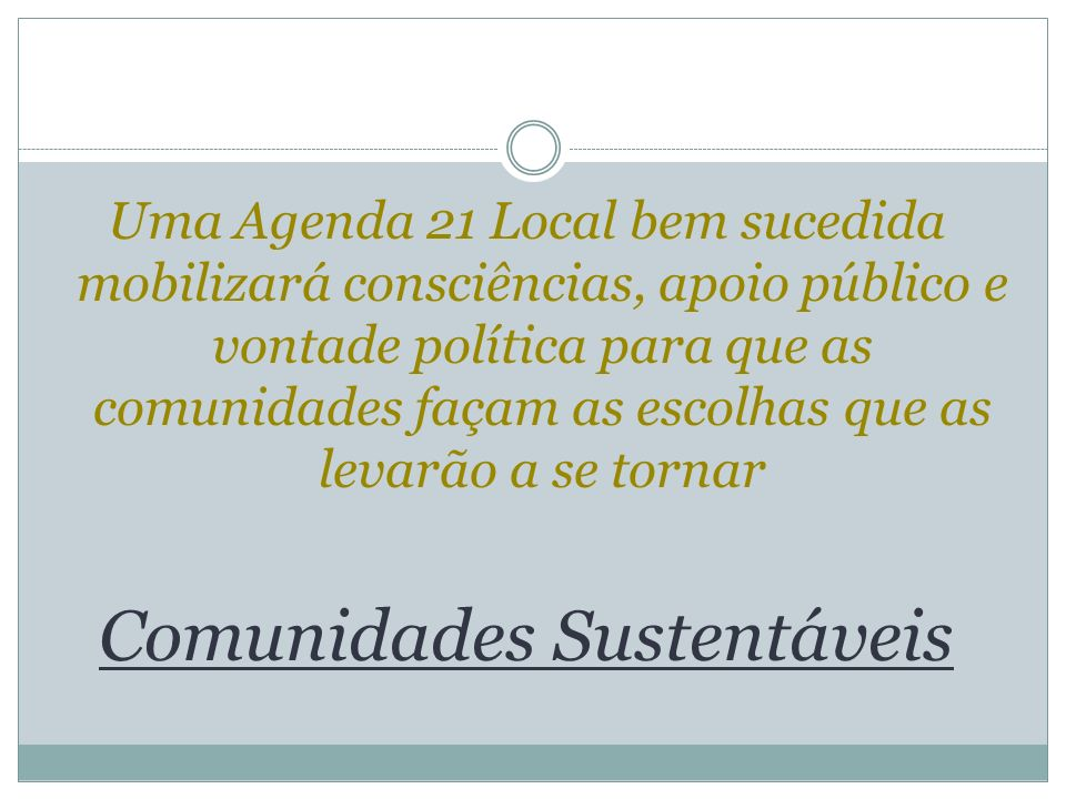 Comunidades Sustentáveis