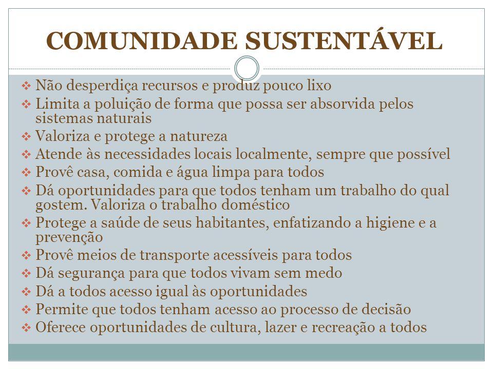 COMUNIDADE SUSTENTÁVEL