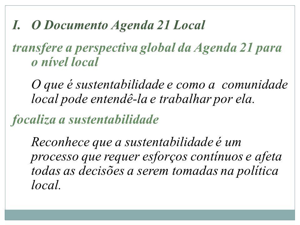 O Documento Agenda 21 Local