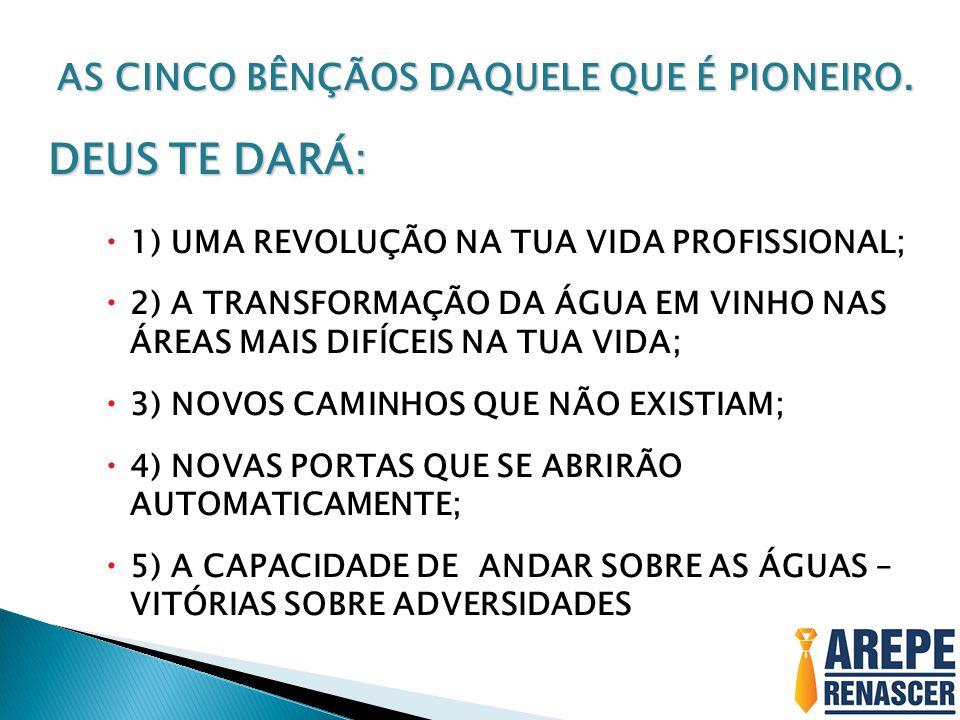 AS CINCO BÊNÇÃOS DAQUELE QUE É PIONEIRO.