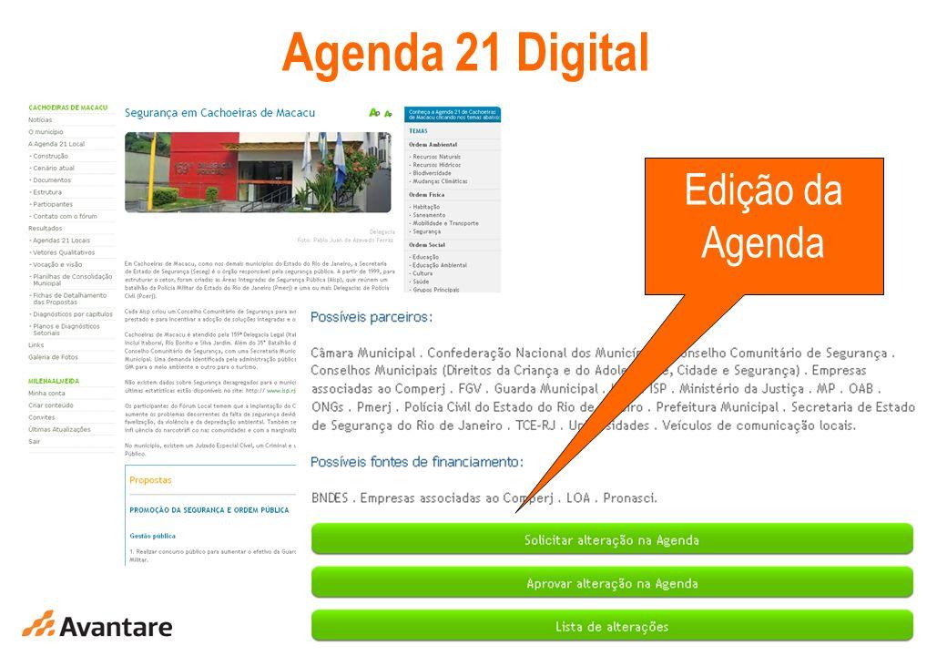 Agenda 21 Digital Edição da Agenda