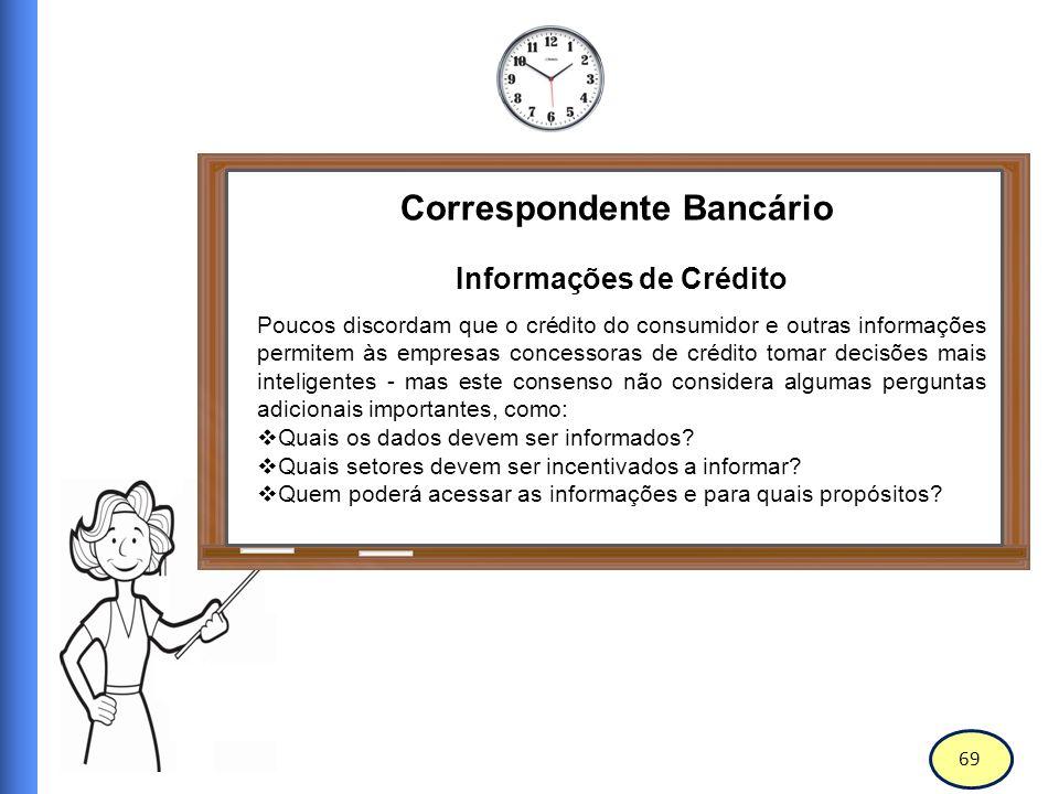 Correspondente Bancário Informações de Crédito