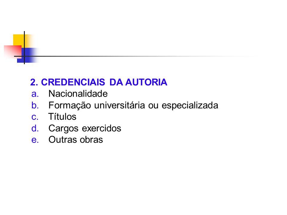 2. CREDENCIAIS DA AUTORIA