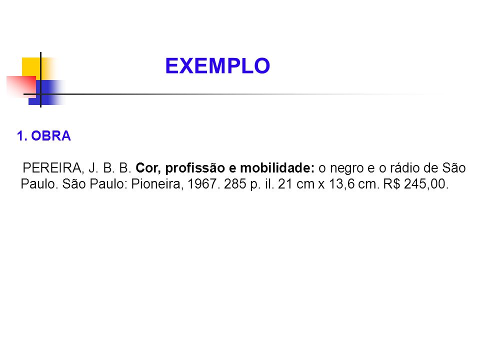 EXEMPLO 1. OBRA.