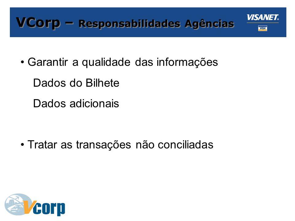 VCorp – Responsabilidades Agências