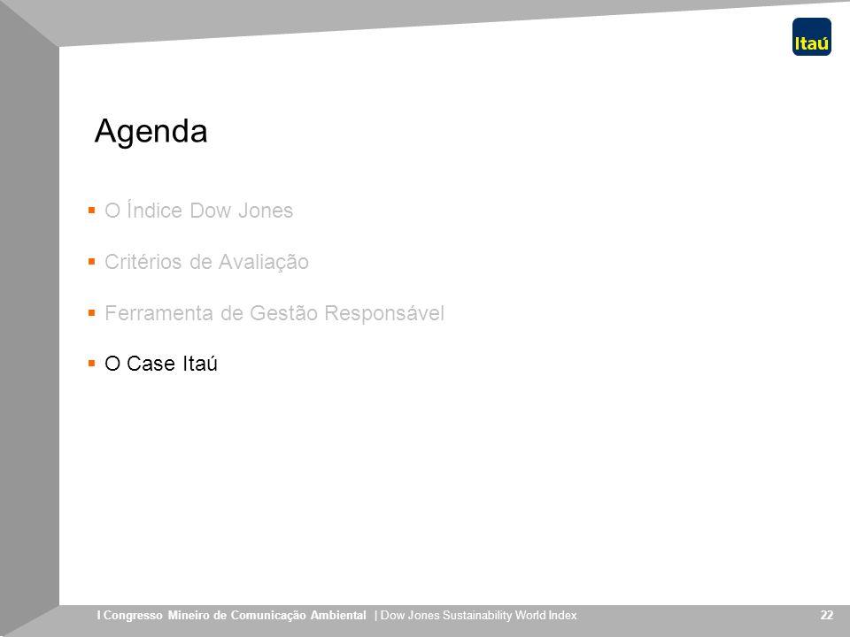 Agenda O Índice Dow Jones Critérios de Avaliação