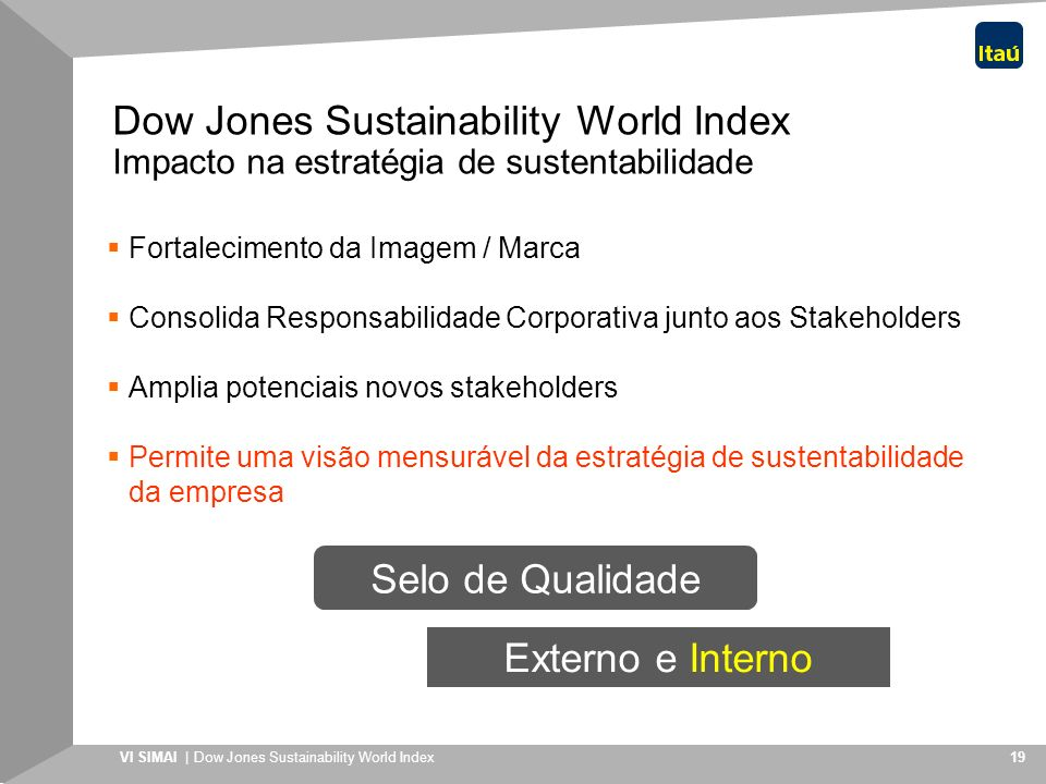 Dow Jones Sustainability Indices 2018 (DJSI 2018)