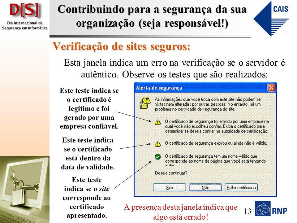 Verificação de sites seguros:
