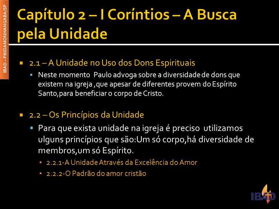 Capítulo 2 – I Coríntios – A Busca pela Unidade