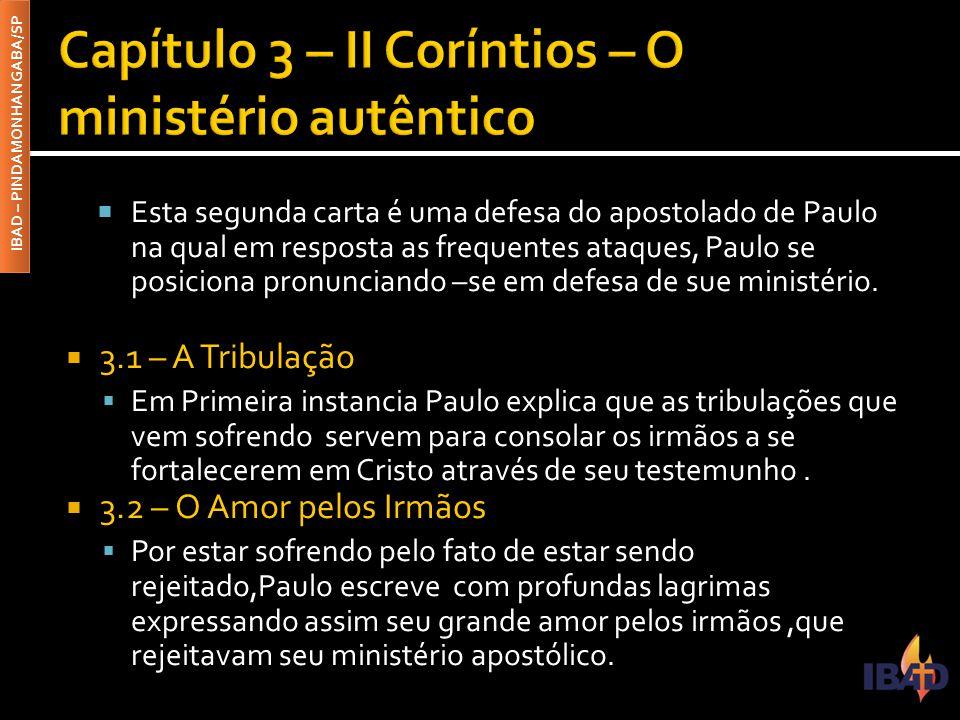 Capítulo 3 – II Coríntios – O ministério autêntico