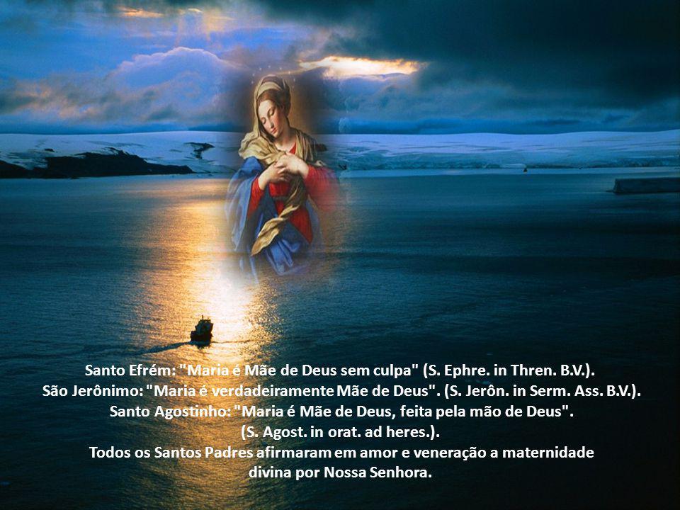 Santo Agostinho: Maria é Mãe de Deus, feita pela mão de Deus .