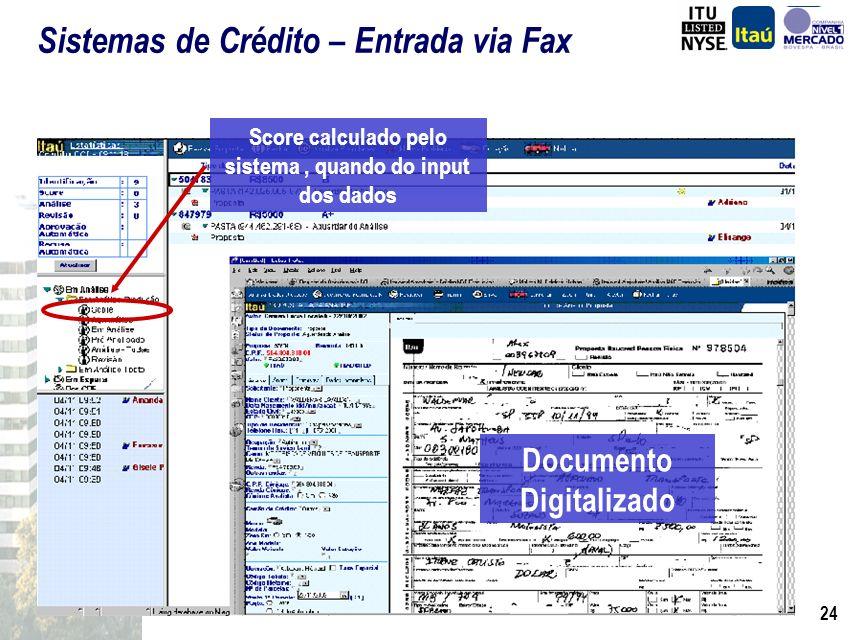 Sistemas de Crédito – Entrada via Fax