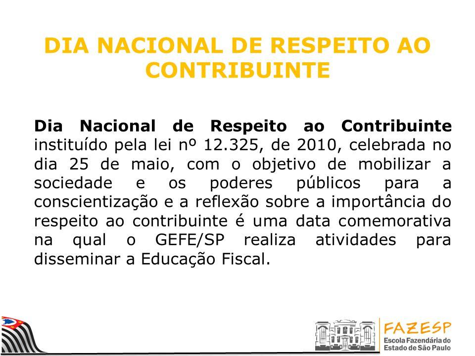 DIA NACIONAL DE RESPEITO AO CONTRIBUINTE