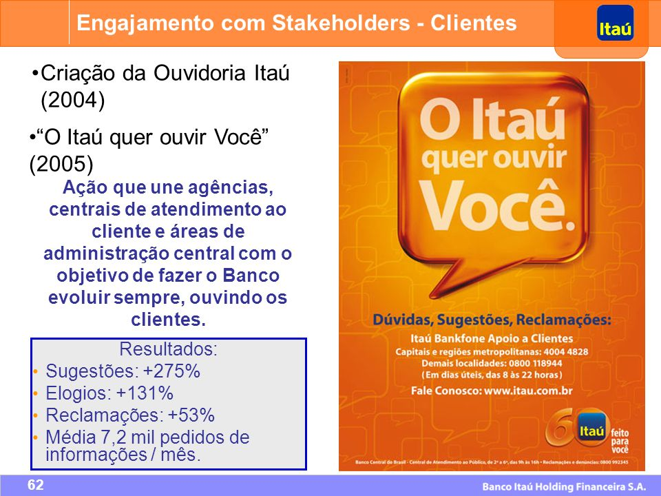 Engajamento com Stakeholders - Clientes