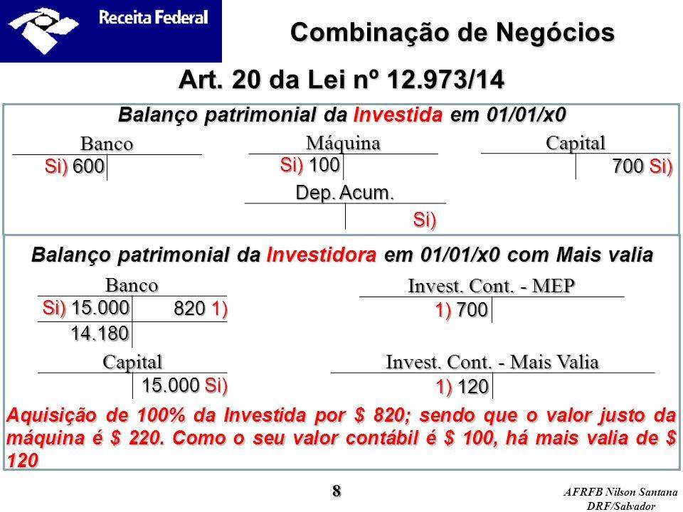 Combinação de Negócios Art. 20 da Lei nº 12.973/14