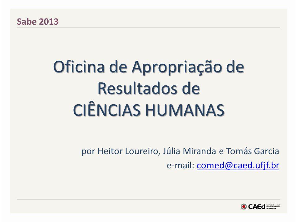 Oficina de Apropriação de Resultados de CIÊNCIAS HUMANAS